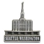 LDS Mens Seattle Washington Temple Silver Steel Tie Tac / Tie Pin for Boys