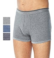 3 Pack Cool & Fresh™ Stretch Cotton Tonal Feeder Striped Trunks with StayNEW™