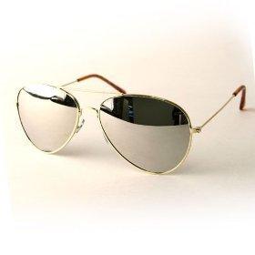 33452c6987e WOMEN S ACCESSORIES   1 Aviator Sunglasses Gold Frame Mirror Lens ...