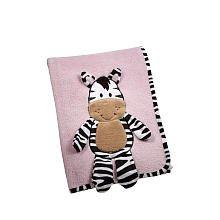 Pink Zebra Baby Blanket front-176454