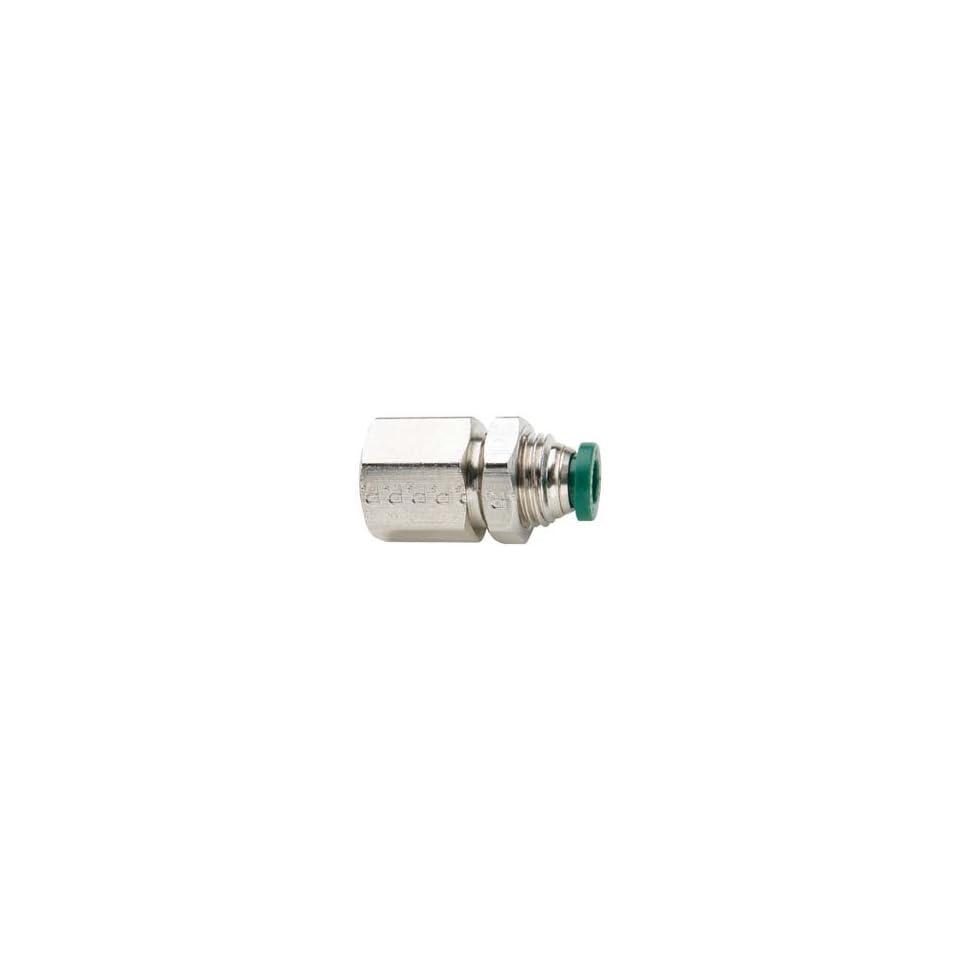 Parker 5/32x1/4nptf N/p Brass Bulkhead Female Connector