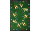 Joy Carpets Kid Essentials Early Childhood Monkey Business Rug, Green, 7\'8\