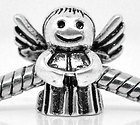 Endearing Charms Silver Plated Cute Angel Spacer Charm Bead Fits Pandora Troll Charm Bracelets Necklaces