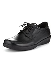 Airflex™ Comfort Leather Wide Fit Lace Up Shoes