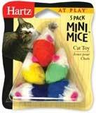 HARTZ MOUNTAIN #32700-95986 5PK Mini Mice Cat Toy