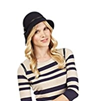 M&S Collection Pure Wool Bow Cloche Hat