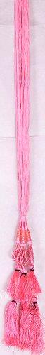 Pink Hair-braid Ornament (Choti) - Paranda with Tassel - Handmade in Pakistan