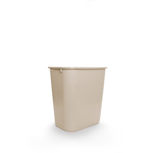 rubbermaid commercial plastic 7 gallon trash can beige cheap industrial products. Black Bedroom Furniture Sets. Home Design Ideas