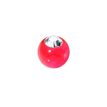 3mm Pink Gem Acrylic Replacement Ball