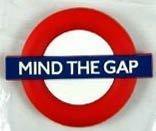 Mind The Gap (London Transport) rubber fridge magnet