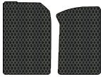 Ford F-350 Super Duty Custom-Fit All-Weather Rubber Floor Mats 2 Pc Fronts - Standard Cab - Black (2005 05 2006 06 2007 07 ) AMSPB3L435111||801F9LUL