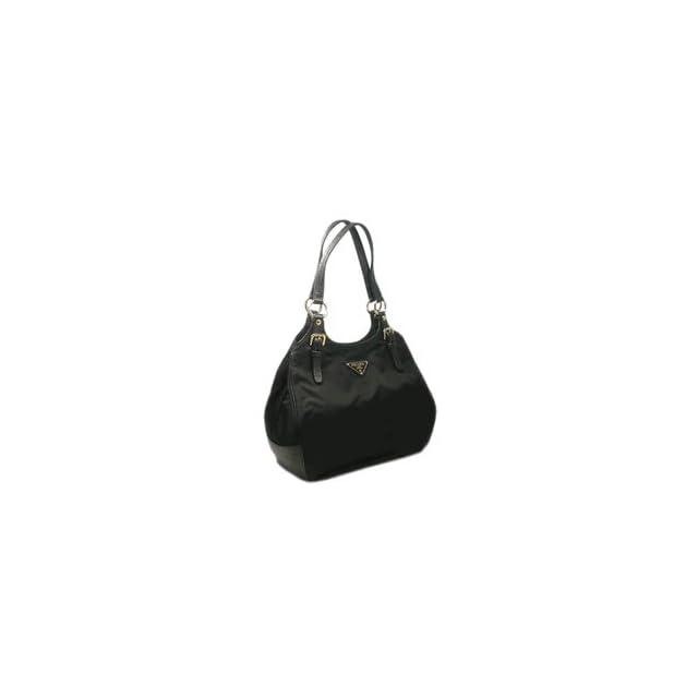 0b35346535ef Prada Tessuto Vitello Handbag Br4367 Black on PopScreen