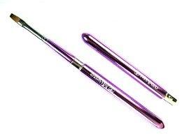 メイクブラシ MKシリーズー1 ドーム型 携帯用リップブラシ バイオレット セーブル100% 熊野筆 宮尾産業化粧筆