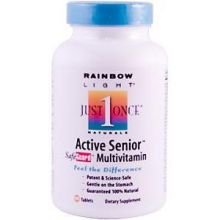 Rainbow Light Just Once Active Senior Safe Guard Multivitamin Tablet - 90 Per Pack -- 3 Packs Per Case.