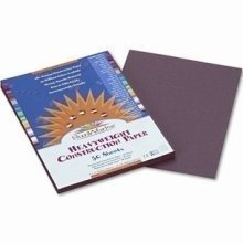 Sunworks Construction Paper, Dark Brown, 9 x 12; 50 Sheets; no. PAC6803 - 1