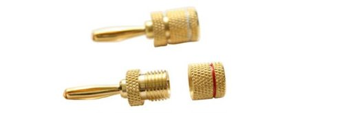 Rca Cdt92Cwb Banana Plug Speaker Wire Connector With Centerpin Technology (2-...