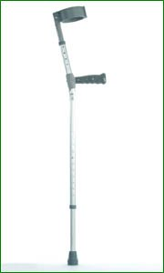 """Elbow Crutches With PVC Handles - Double Adjustable - Height 32-42"""""""