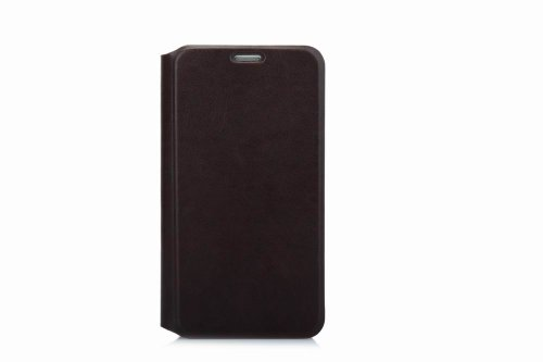 Flip Wallet Book Holster Leather Cover Carrying Case For Samsung Galaxy S5 - Brown