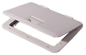 """Tempress 44230 White 11"""" x 15"""" Access Hatch with Flange"""
