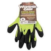 Wonder Grip Wg310S Rubber Gloves, Spring Green, Small front-397404