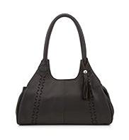 M&S Collection Leather Floral Cut-Out Apron Handbag