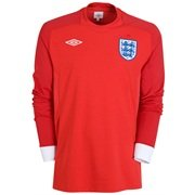 2010-11 England World Cup Long Sleeve Away Shirt (Kids)