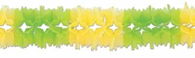 Beistle 55180-LGC Light Green and Canary Pageant Garland, 7 by 14-Feet 6-Inch