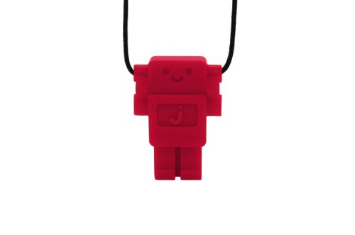 Jellystone Robot 13 Pendant Teether Kids Necklace - Scarlet Red (Jellystone Robot Teether compare prices)