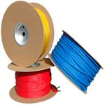 PET Expandable Braided Sleeving - 3/4 - 75 Ft. Spool - Neon Red