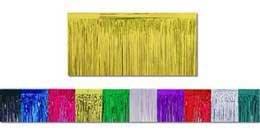 Gold Metallic Fringe Table Skirt