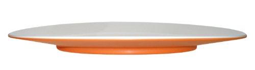 Entity 12b Dessertteller Teller, Geschirr aus Melamin, weiß / orange