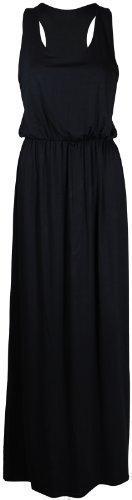 PurpleHanger Women's Toga Long Vest Maxi Dress Plus Size Black 16-1