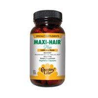 Country Life Maxi-Hair Plus 5,000 Mcg Biotin - 120 Veggie Capsules, Pack Of 3