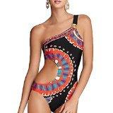 ladies-sexy-trina-turk-yucateca-one-shoulder-one-piece-swimwear-size-medium