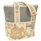 Hoohobbers Tote Diaper Bag, Blue Cirque