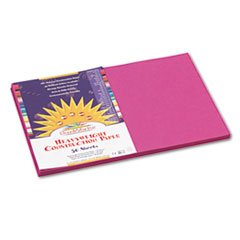 Pacon SunWorks 6407 Construction Paper, 58 lbs., 12 x 18, Magenta, 50 Sheets/Pack (PAC6407) - 1