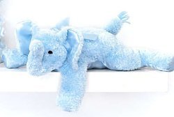 Bearington Bear Blue Elephant Rattle - Peanut - 11 Inches