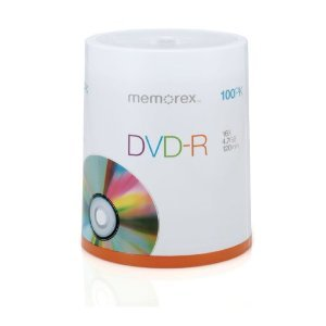 Memorex 05641 DVD-R 16X 4.7GB for General use 100/spindle -