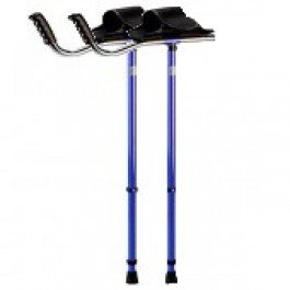 Platform Crutch, 1 Adult Size, Velcro Sleeve, Form-fitted Rubber Handle.