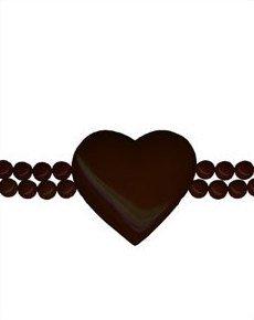 Les NéréidesBase Metal Brown Heart Bracelet - Japan