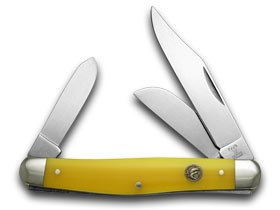 Hen & Rooster And Yellow Celluloid Stockman Pocket Knife Knives