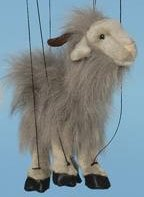 "16"" Grey Goat Marionette (Small)"
