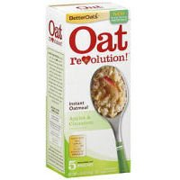 Better Oats Oat Revolution! Instant Oatmeal ~ Apples & Cinnamon Flavor ~ 5 Pouches per 6.15 oz Box (Pack of 3 Boxes)