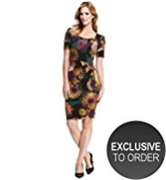M&S Collection Side Pleated Floral Dress