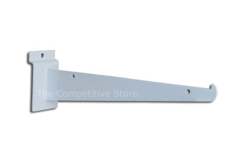 "8"" White Slatwall Knife Shelf Brackets With Lip - 10 Pcs Lot - Fits All Slat Panels"