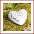 Grabschmuck Herz mit Spruch In stillem Gedenken Herz mit Rosenborte