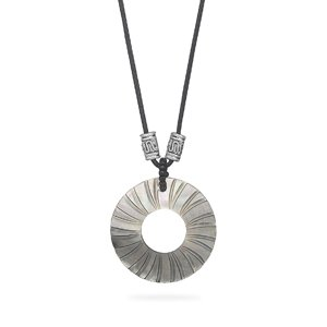Jewelry Locker Cord Fashion Necklace with Shell Pendant