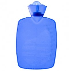 Warm Tradition Transparent Blue Classic Hot Water Bottle - Made In Germany