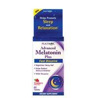Natrol Advanced Melatonin Plus Sleep Aid, Strawberry, Fast Dissolve Tablets, 60 Count