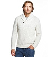 North Coast Shawl Collar Jumper with Wool